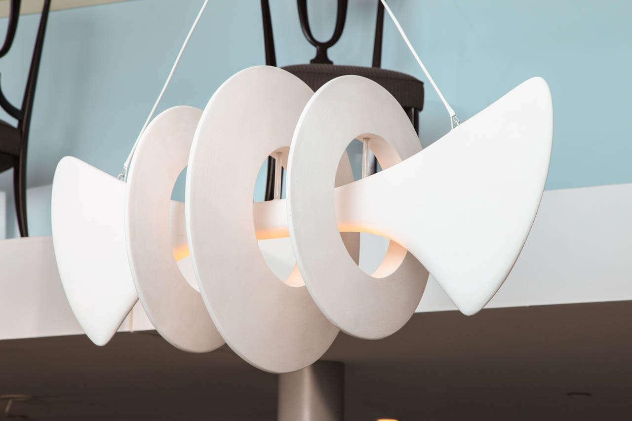 Bones, Studio-Built Ceiling Fixture by Alexandre Logé For Sale 2