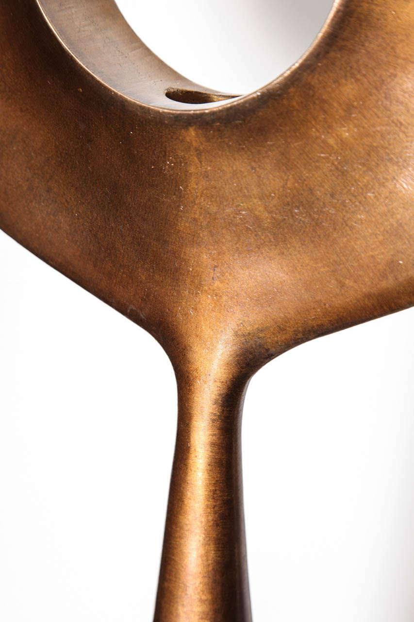 Kei - Studio-Built Bronze Table Light by Alexandre Logé For Sale 2