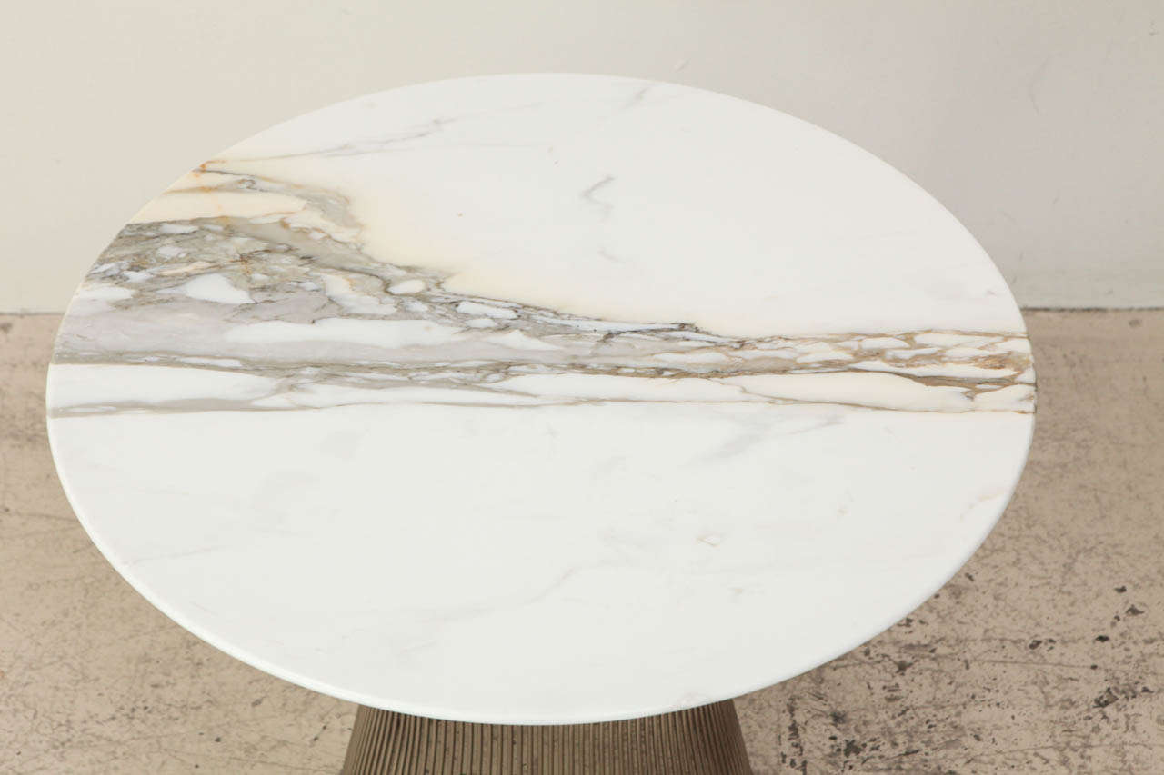 Marble Top Side Table By Warren Platner For Knoll 3