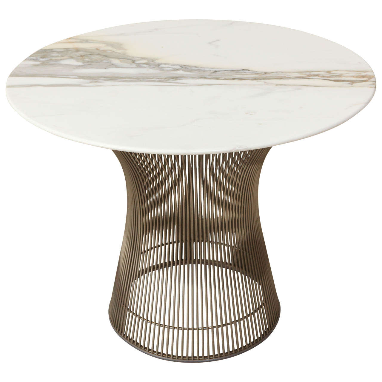 Marble top side table - Marble Top Side Table By Warren Platner For Knoll 1