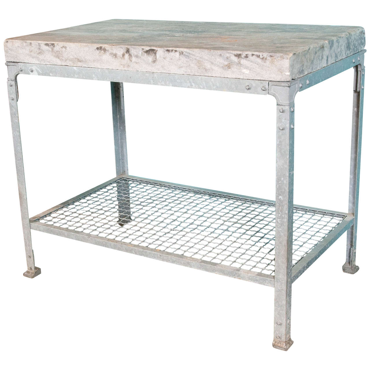 French Marble-Top Slab Table At 1stdibs