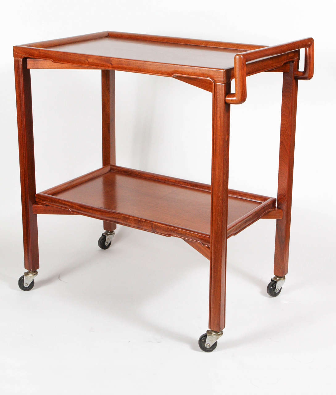 mid century teak bar cart at 1stdibs. Black Bedroom Furniture Sets. Home Design Ideas