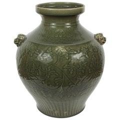 Celadon Chinese Green Vase
