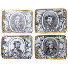 Collection of Vintage Fornasetti Portrait Dishes