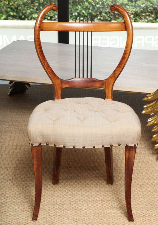 Art Deco Pair of American 1940s Side Chairs For Sale