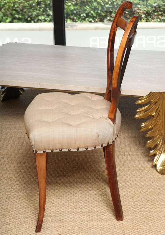 Mid-20th Century Pair of American 1940s Side Chairs For Sale
