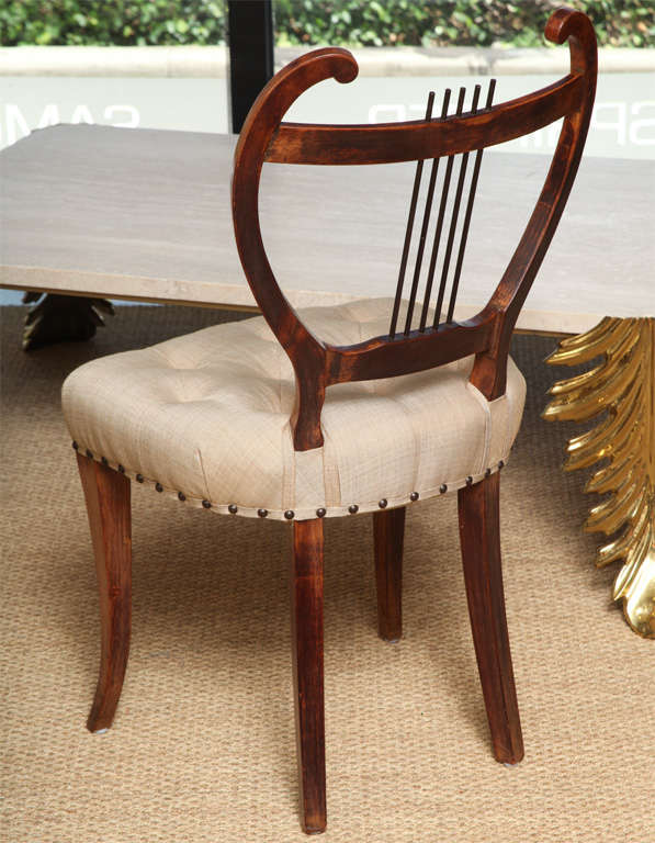 Pair of American 1940s Side Chairs For Sale 1