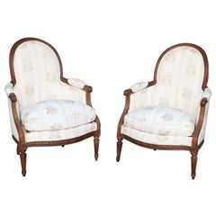 Rare Pair of 18th Century Child's Bergères Stamped Nadal-Laine