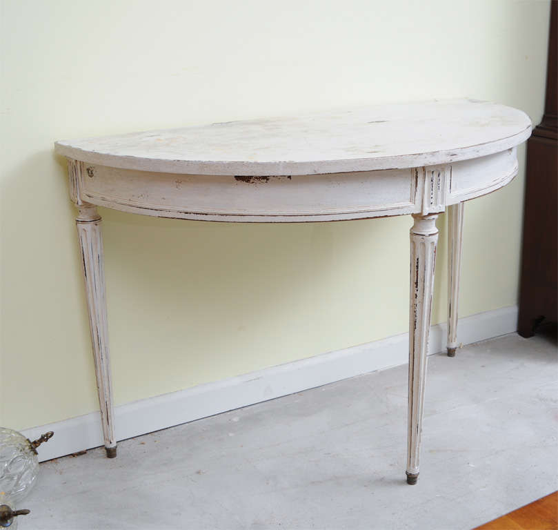 Half Round Console Table french half round console table at 1stdibs