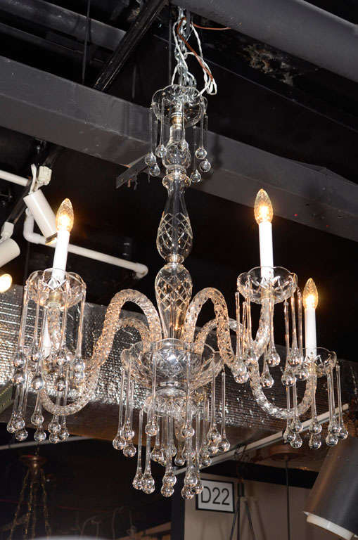 Stunning vintage lead crystal five arm chandelier at 1stdibs vintage lead crystal chandelier with five arms england circa 1940 chandelier may be aloadofball Image collections