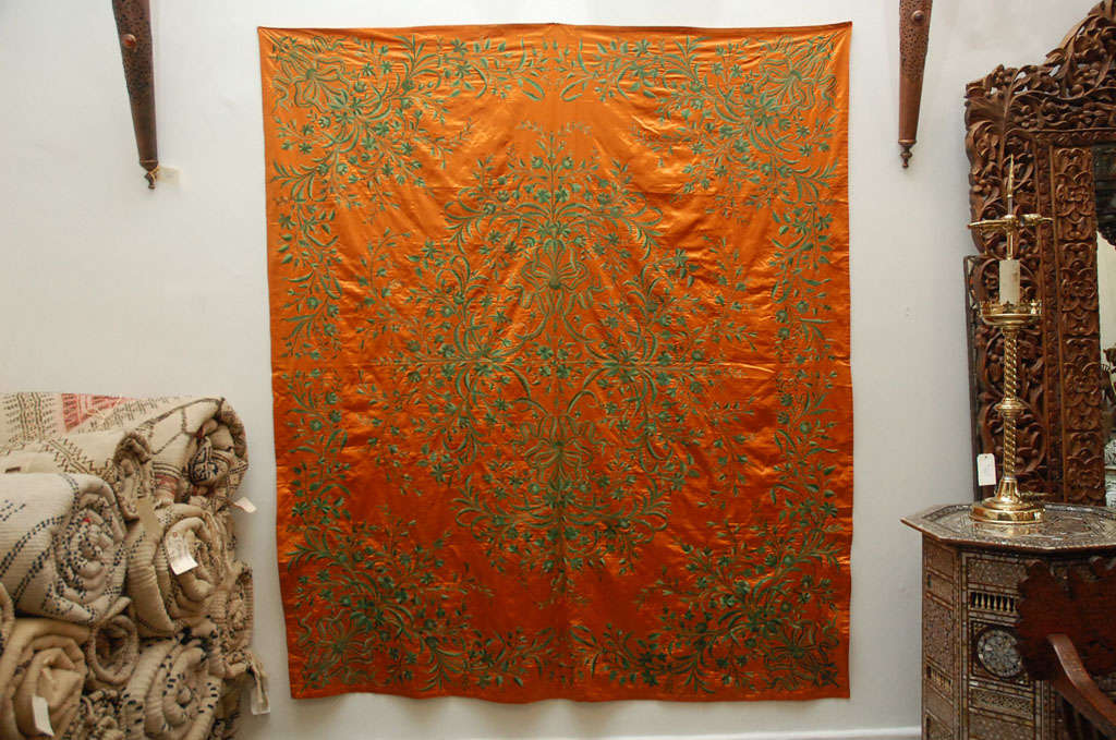 Antique Ottoman Empire Silk Textile Hanging Throw At 1stdibs