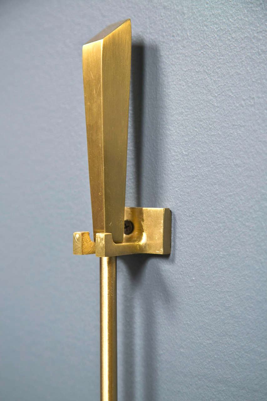1960 39 S Brass Wall Mount Fireplace Tools At 1stdibs