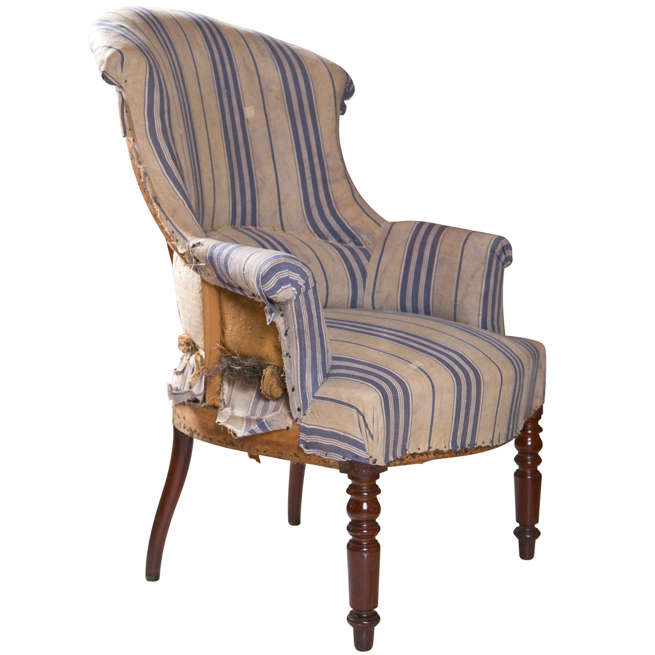 French Scroll Back Chair At 1stdibs