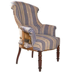 French Scroll Back Chair