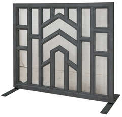 1030s Architectural Cast Iron Fireplace Screen