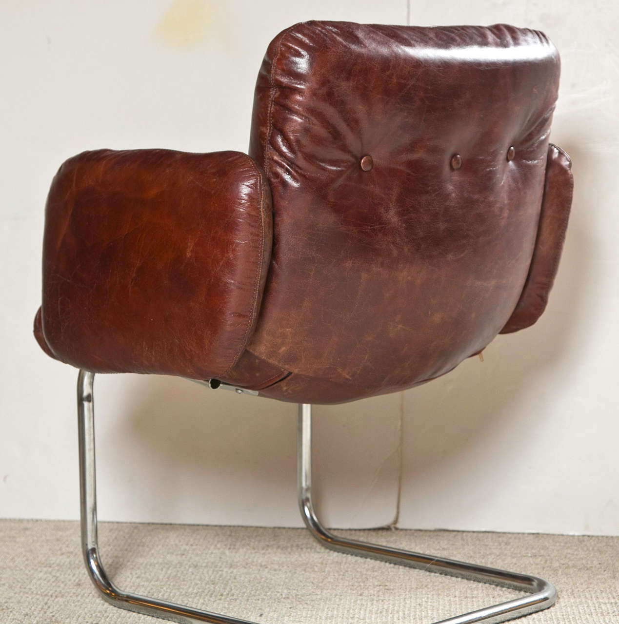 Mid Century Harvey Probber Leather Chairs At 1stdibs