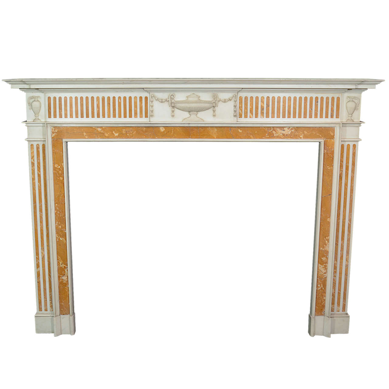 fine antique english george iii marble fireplace mantel ca
