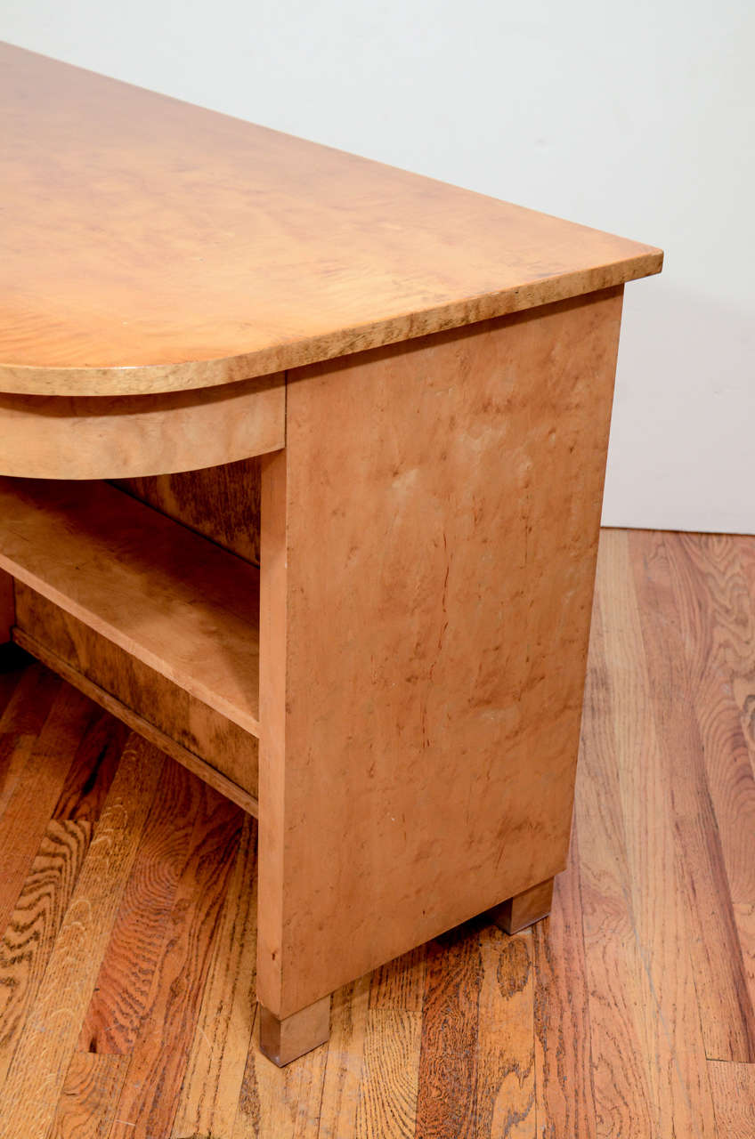 Art Deco Desk with Bookcase For Sale 3