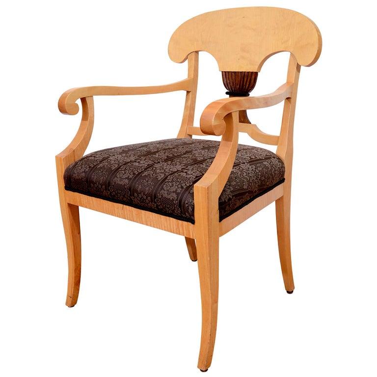 "Oversized ""Napoleon Hat"" Biedermeier Armchairs For Sale"