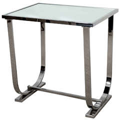 Art Deco Style Side Table with Mirrored Top, Made to Order