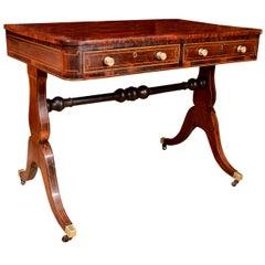 Fine Regency Rosewood Writing Table