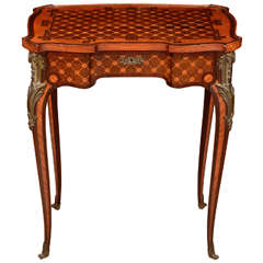 French Transitional Parquetry Dressing Table