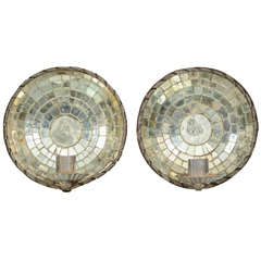 Pair Mirrored Candle Sconces