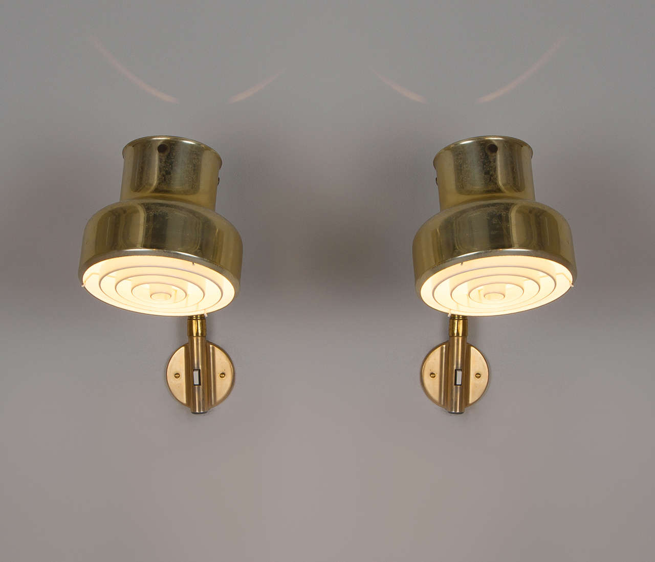 Nine Brass Colored Wall Lights by Anders Pehrson for Atelje Lyktan For Sale at 1stdibs