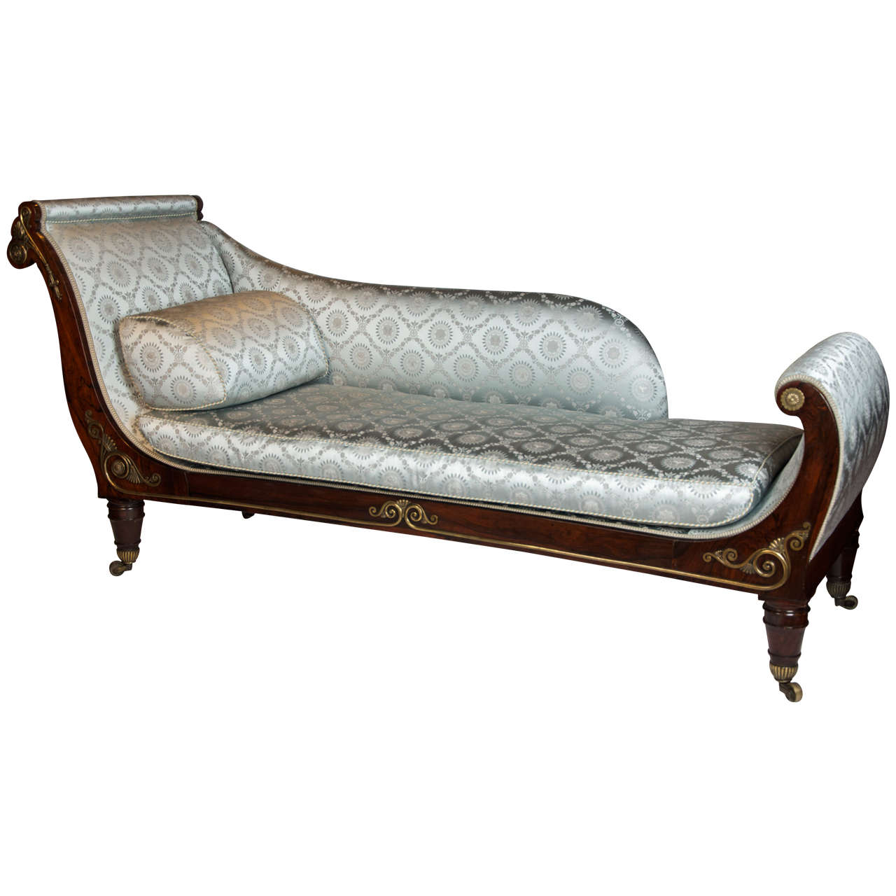 19th Century High-Style Regency Period Library Couch or Chaise Lounge