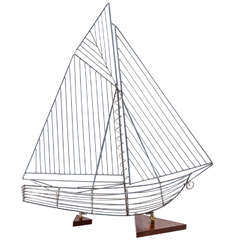 Modern Sailboat in the Style of Curtis Jere