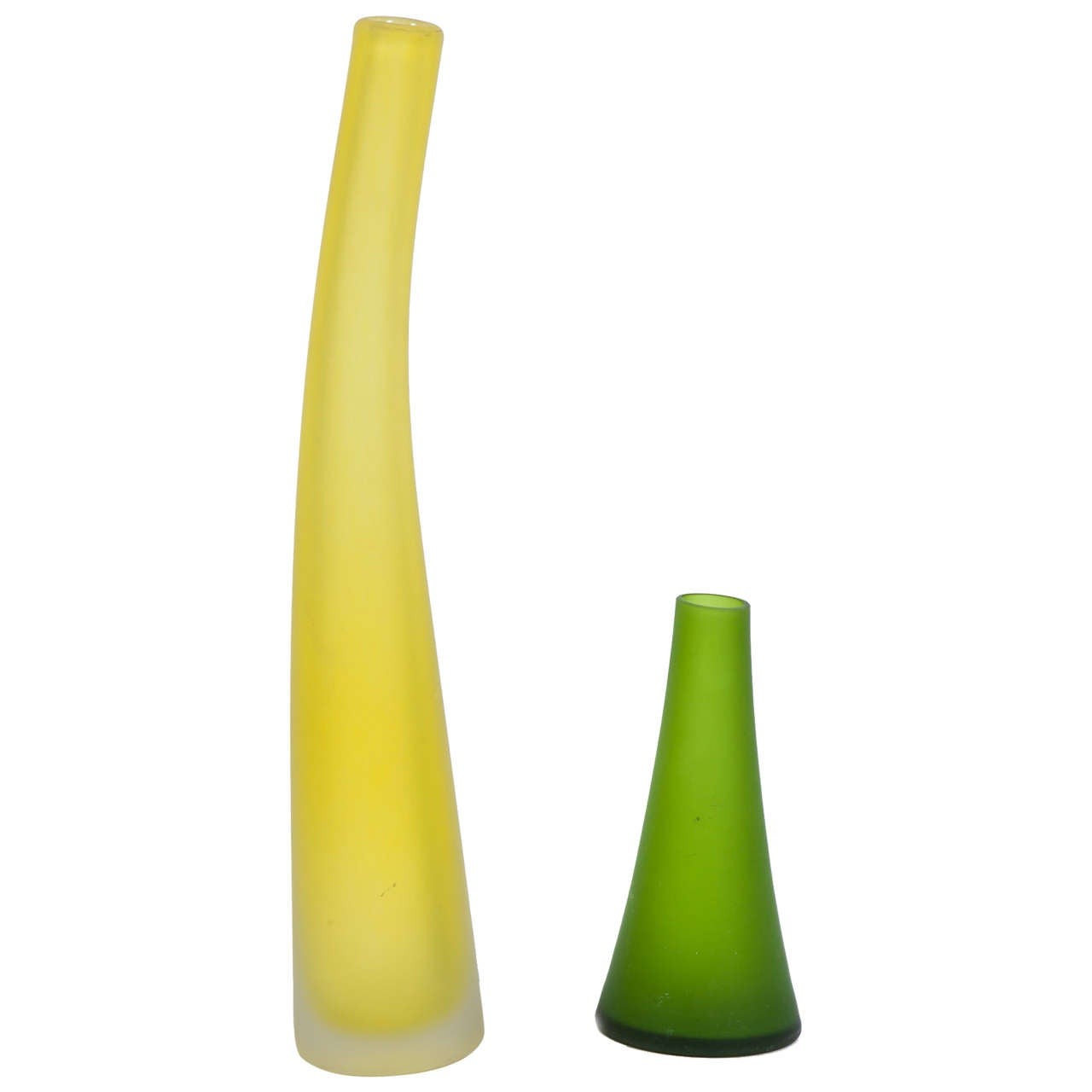 Frosted Glass Vases by Carlos Moretti