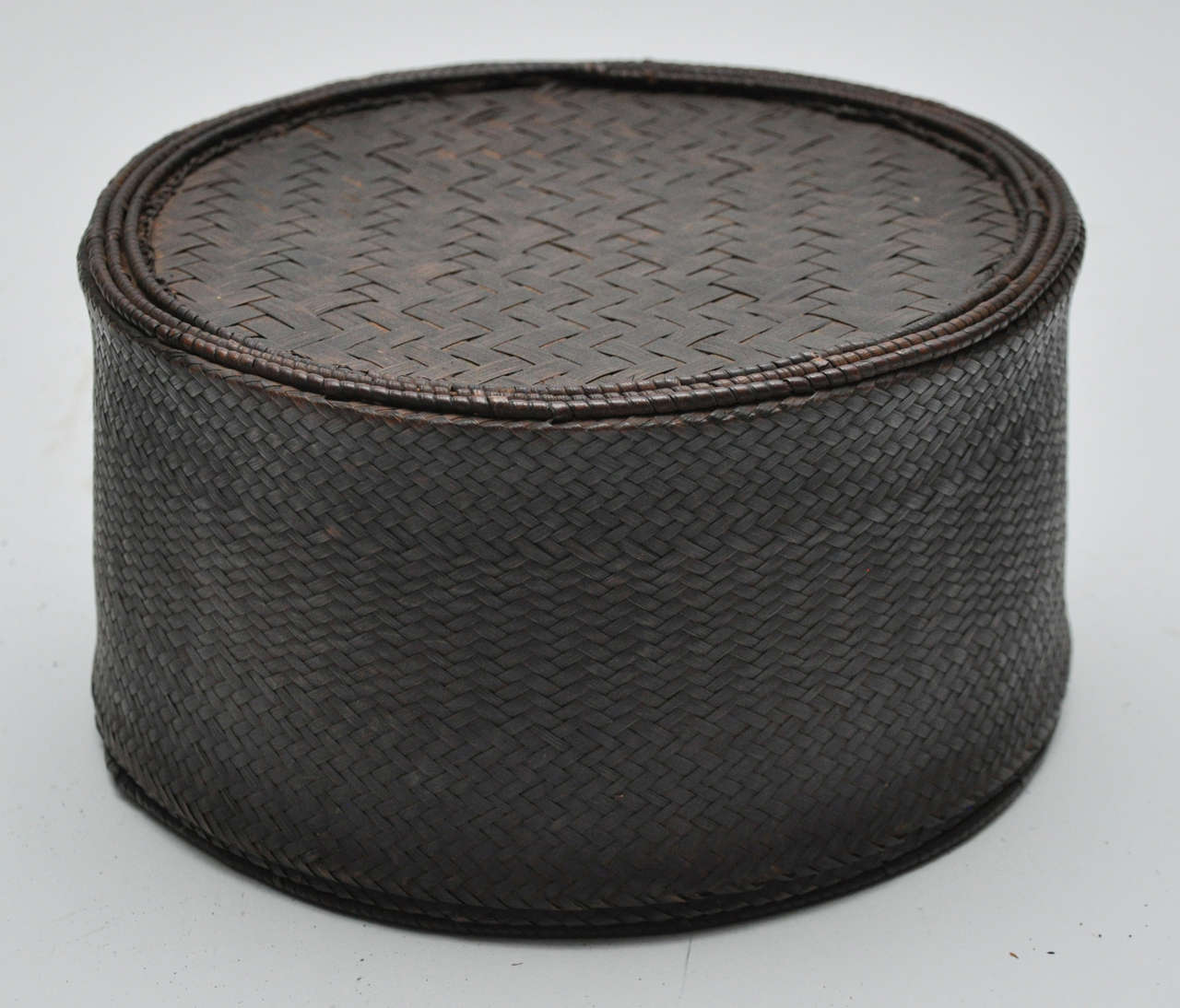 African Baskets With Lids: Trio Of Woven African Basket/Containers At 1stdibs