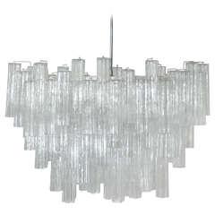 Large Italian Camer Glass Chandelier