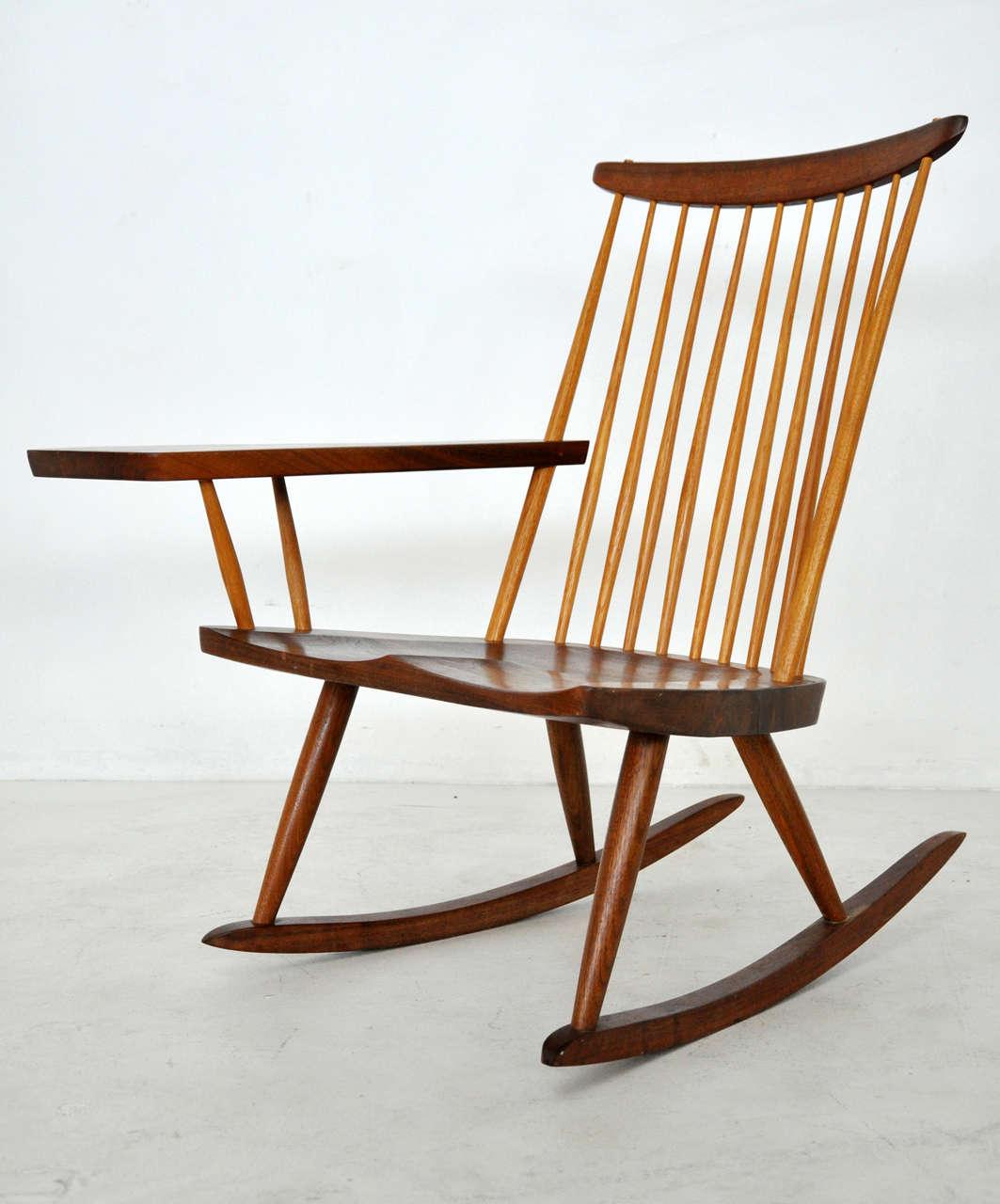 george nakashima rocking chair for sale at 1stdibs. Black Bedroom Furniture Sets. Home Design Ideas