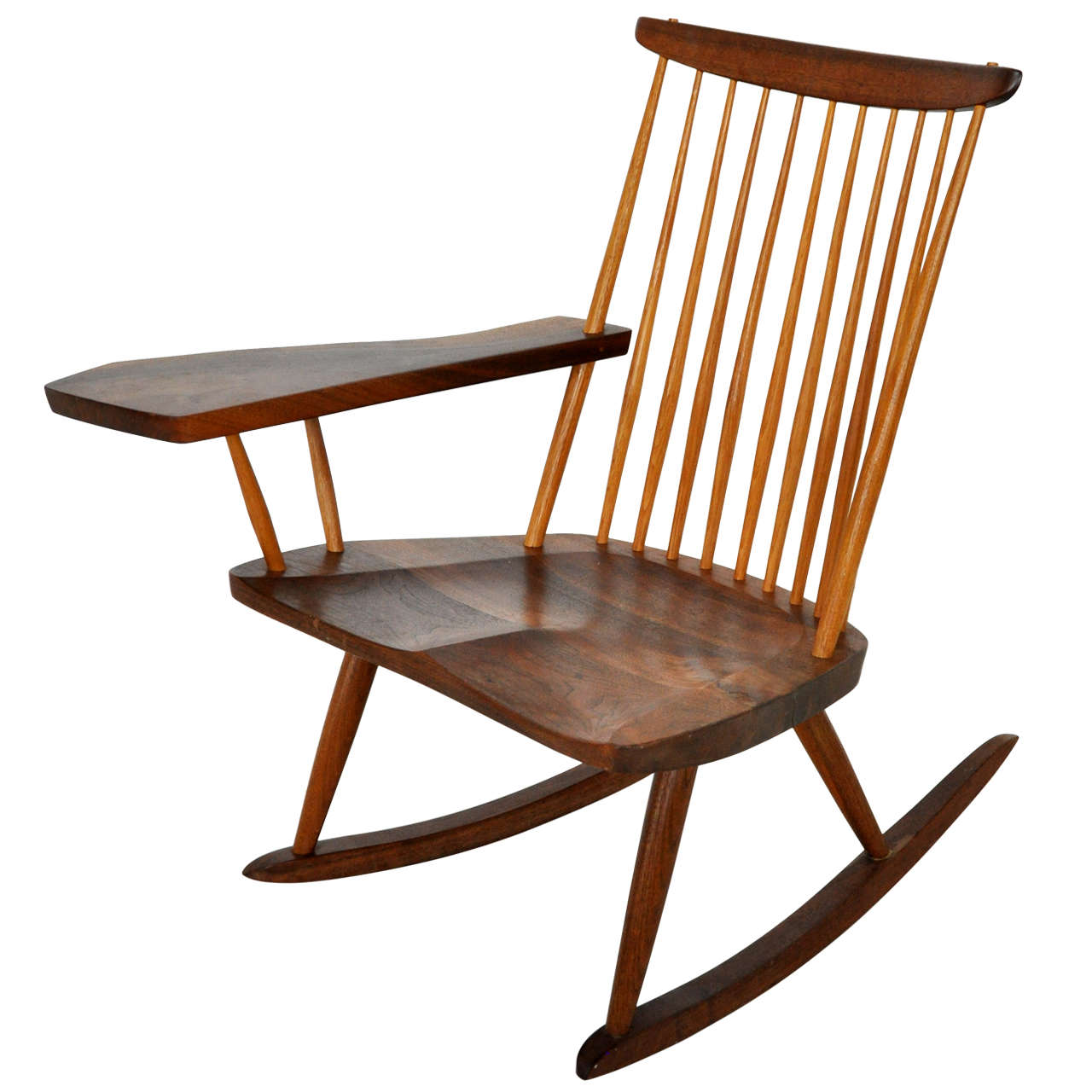 george nakashima rocking chair for sale at 1stdibs. Black Bedroom Furniture Sets. Home Design Ideas