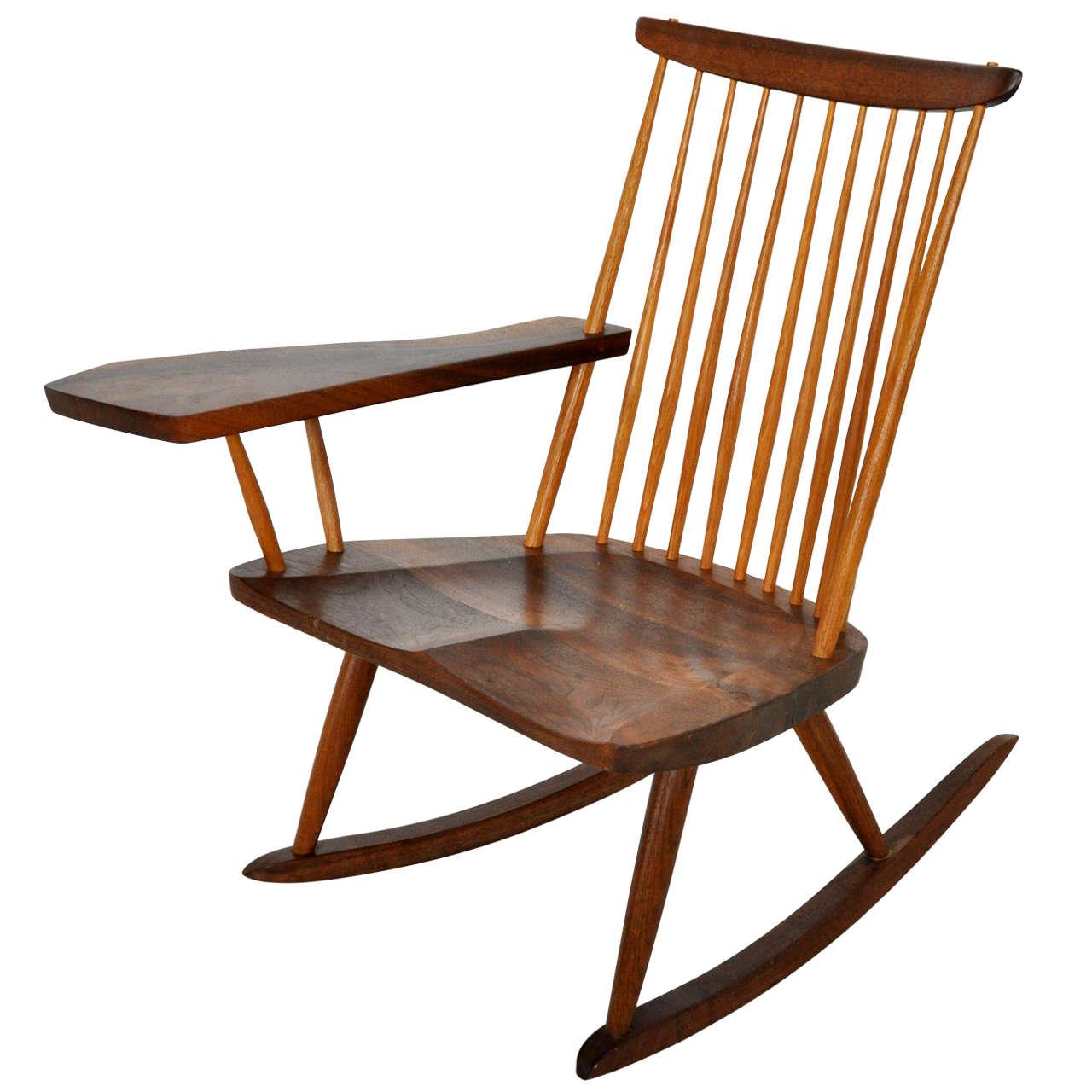 George Nakashima Rocking Chair At 1stdibs