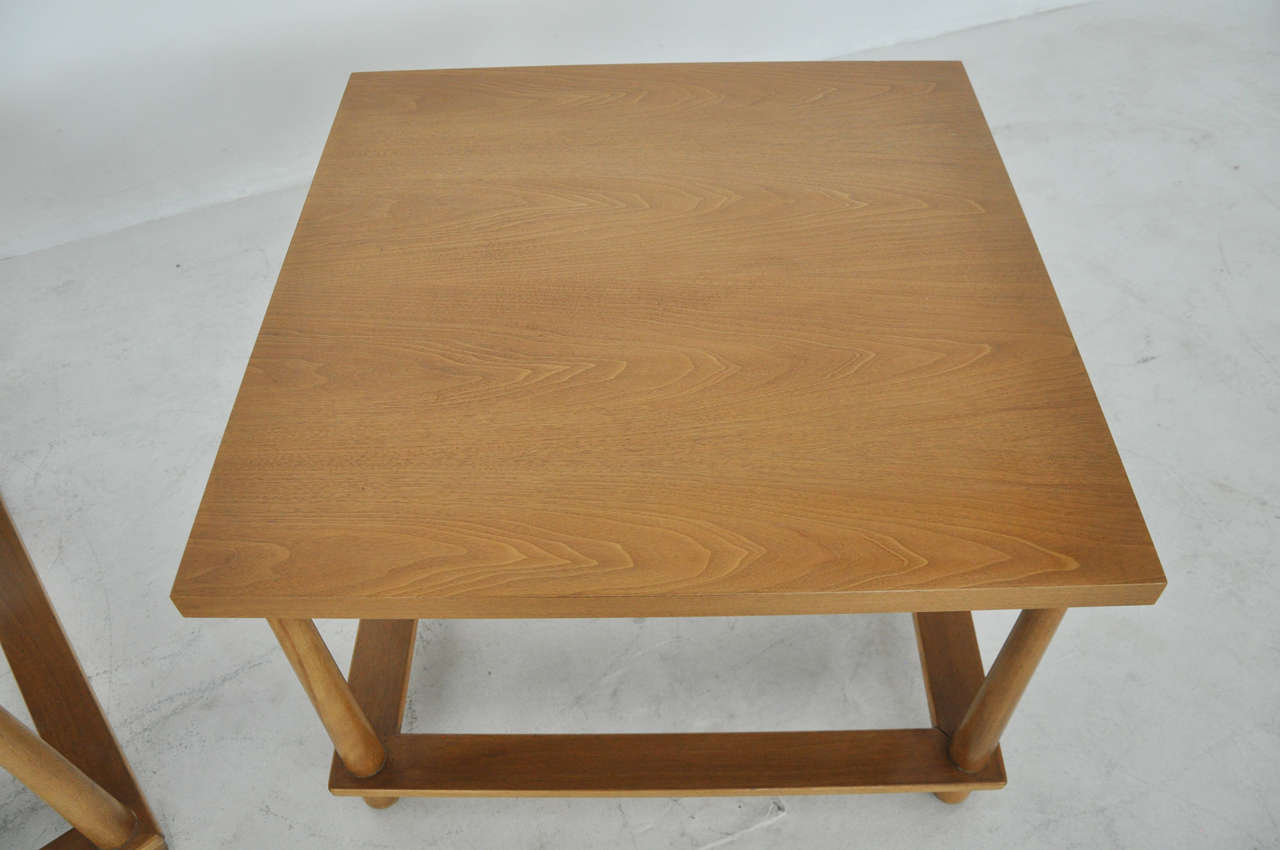 T.H. Robsjohn-Gibbings Lamp Tables In Excellent Condition For Sale In Chicago, IL