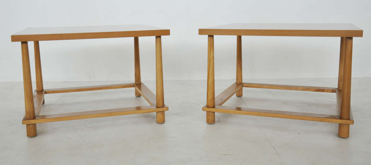 Mid-20th Century T.H. Robsjohn-Gibbings Lamp Tables For Sale