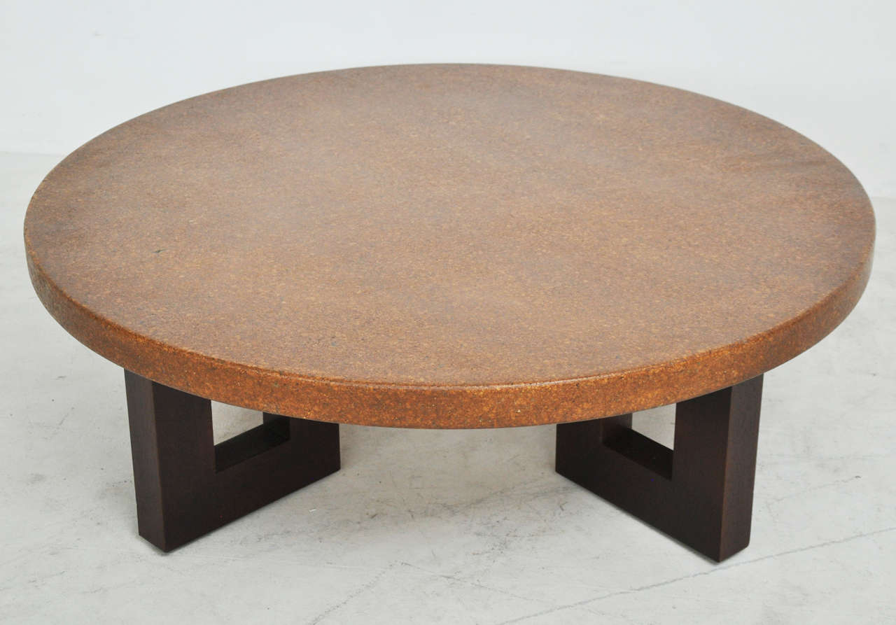 Mid Century Modern Cork Top Coffee Table Paul Frankl For