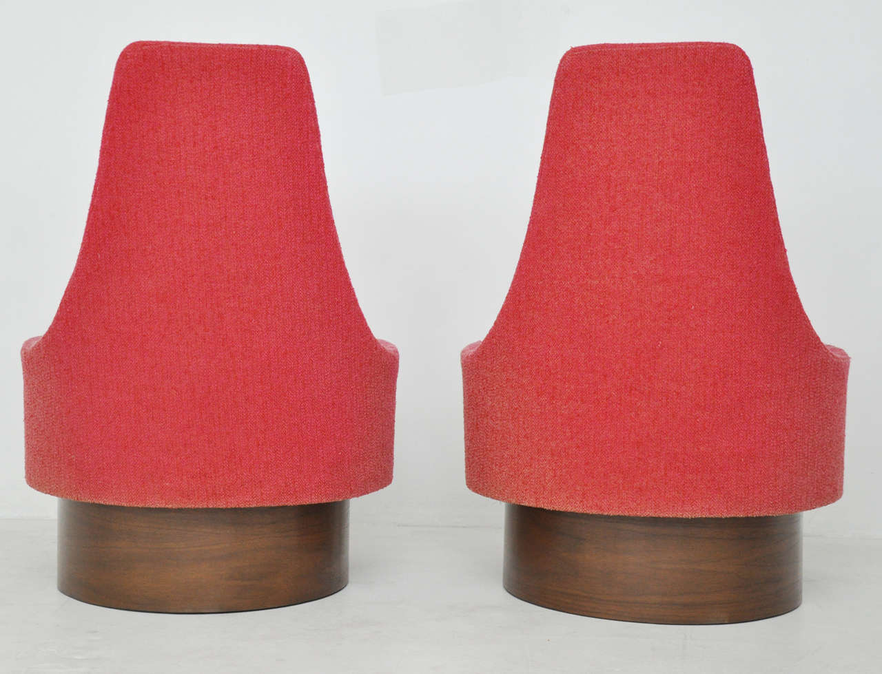 Mid-20th Century High Back Swivel Chairs by Adrian Pearsall For Sale