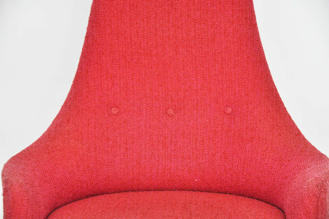Fabric High Back Swivel Chairs by Adrian Pearsall For Sale