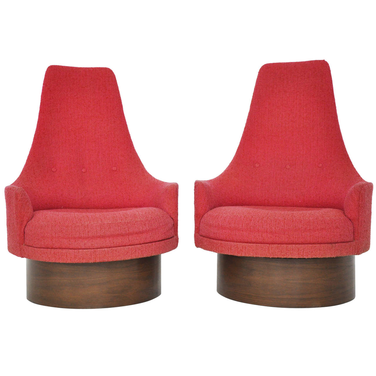 High Back Swivel Chairs by Adrian Pearsall at 1stdibs