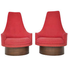 High Back Swivel Chairs by Adrian Pearsall