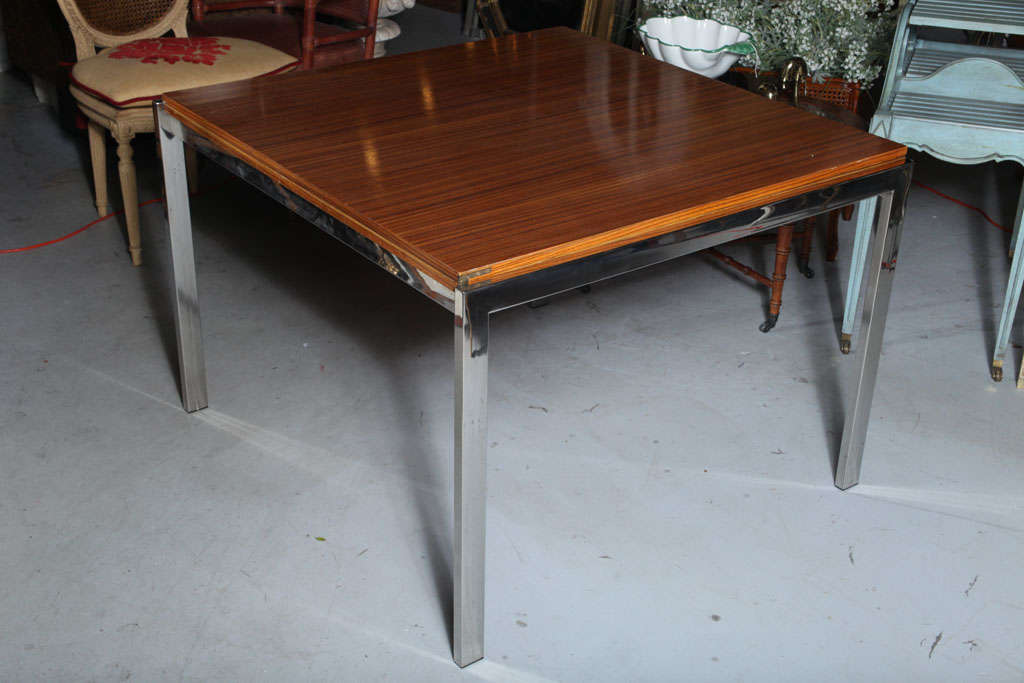 Pace zebra wood dining table at stdibs