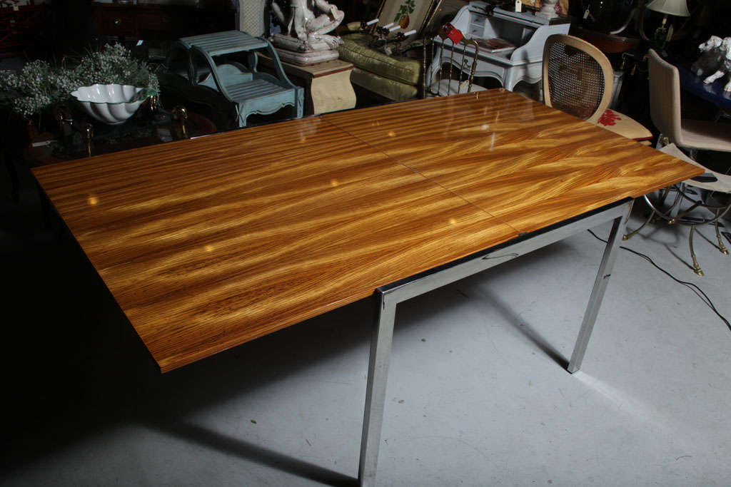 Pace Zebra Wood Dining Table For Sale 4