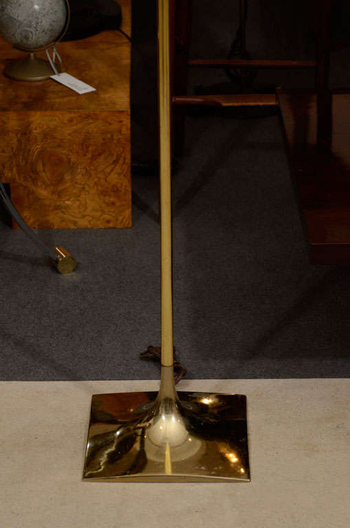 Tulip brass floor lamp by laurel for sale at 1stdibs for Brass floor lamp made in usa