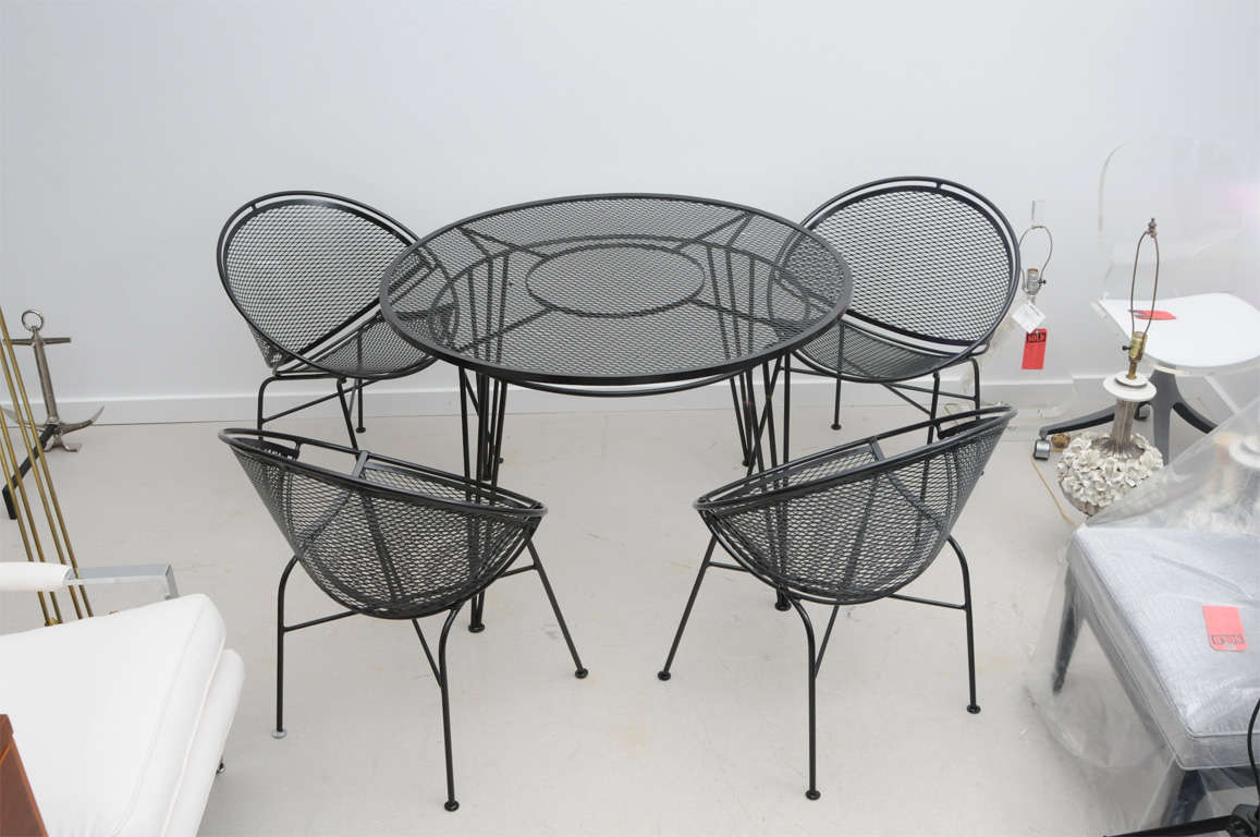 Superior Vintage Salterini Wrought Iron Patio Set 2