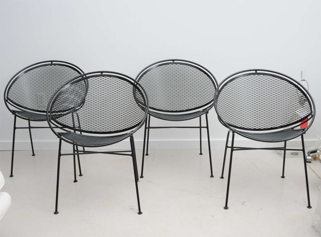 Vintage salterini wrought iron patio set at 1stdibs for Outdoor furniture hwy 7