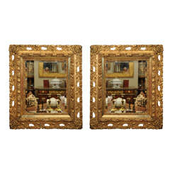 19th C. Baroque Style Gilt And Beveled Mirrors