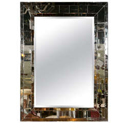 Rectangular Mirror with Sectioned Mirror Frame